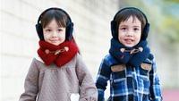 2014 winter children ring scarves boys girls unisex fashion solid neck warmer kids neckerchief brand  high quality