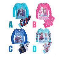 Kids Pajamas Clothes frozen Set Children Sleepwear long sleeve homewear Baby Pyjamas Soft nightwear  SL205 retail free shipping