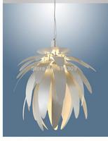 Fashion modern pendant light dragon fruit aluminum profile aureateness slitless lamps bar table chandelier white lustres home