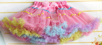 girls pettiskirts tutu skirts kids tiered girl cute skirt with ribbon colorful skirt girls ball gown bowknot skirt cd23-11
