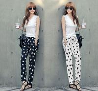 2014 New Women Summer casual trousers fashion chiffon Loose Harem Pants
