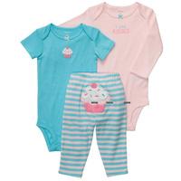 BCS116 Free Shipping New 2014 3pcs Carter's Girls Set  Baby Girls Sleeve Bodysuit Pants Carters Baby Clothing Sets Retail