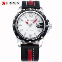 CURREN 8104 Leather Wrist Watch Fashion & Casual Men Wacth Quartz Watch with Calendar 1piece/lot BW-SB-873
