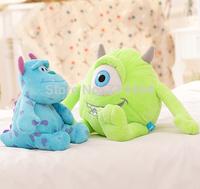 Free shipping 20cm Monsters Inc Monsters University  2pcs/set Monster Mike Wazowski+James P. Sullivan plush toy for kids gift
