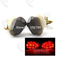 Amber Motorcycle LED Turn Signal Indicators Light Motorbike Flush Lamp for Yamaha Honda #3745*2