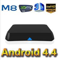 2014 Latest M8 Quad Core Android Smart TV Box Amlogic S802 2GB 8GB Mali 450 GPU 2.4G 5G 4.4 KitKat XBMC 13.0 free shiping