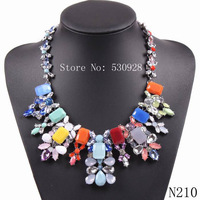 hot sale 2014 fashion new design Luxury  multi color available pendant Necklace for women free shipping