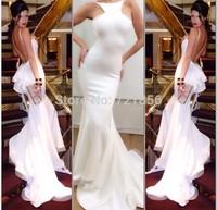 AJ-06 new sexy mermaid ruffles spaghetti strap low open back long chiffon evening dress party dresses vestidos de fiesta 2014
