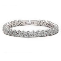 925 sterling silver AAA zircon bracelets Ms Roman bracelet fashion luxury bracelet