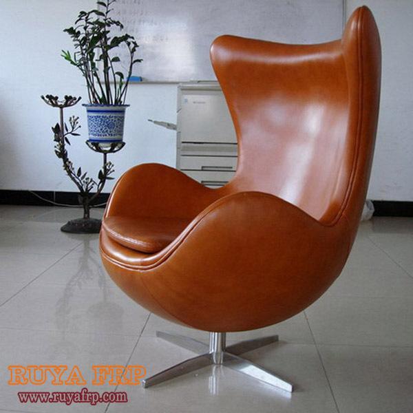 Fiberglass egg chair stainless steel feet living room furniture china