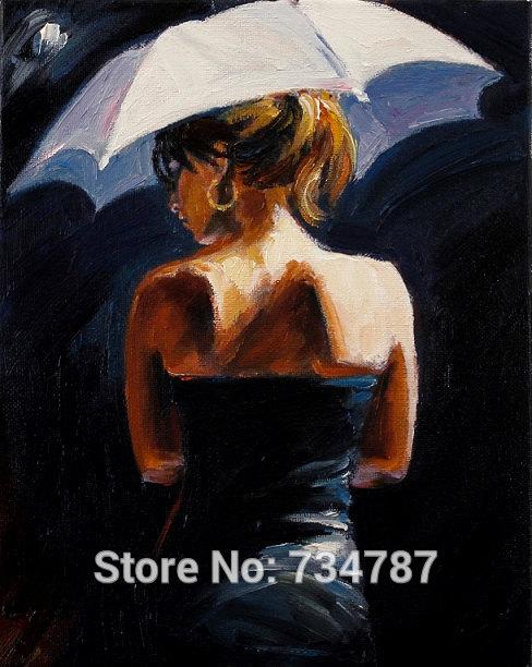 Woman Umbrella Woman Under Umbrella