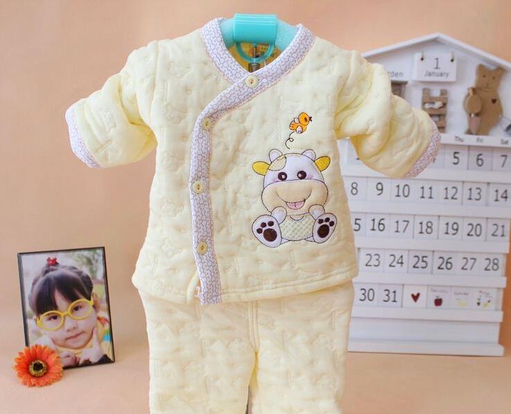 la naissance des vêtements en coton épais underwear jeux newborn baby au printemps et en automne légerfonction vêtements pour bébés en coton