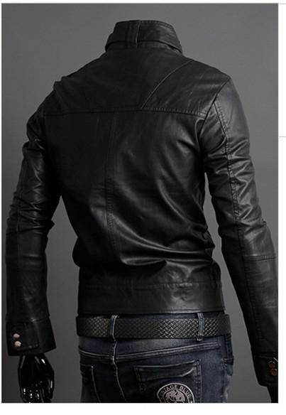 Новый мужской кожаный пиджак Корейский подиумах
