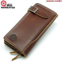 Vanbatch genuine leather cowhide men wallet long design hasp zipper , monederos dollar price carteiras dos homens for man