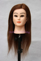 Free Shipping Dummy Manequin Cosmetology Mannequin Heads 100% Light Brown Human Hair Training Mannequin Head With Human Hair