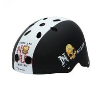 New Arrival Bicycle Helmet Fixed Gear Bicycle Helmet Head Protection White Stripe Skull Print Roller Skate Helmet Cheap Sale