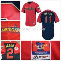 cheap free shipping American League Texas Rangers 11 Yu Darvish  2014 baseball Jersey/shirt Embroidery Logos