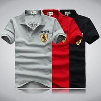 summer new men fashion brand cotton sports polo T-shirts free drop shipping