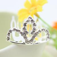 New 2014 cute girl rhinestone crystal Crown Comb hair clip  tiara crown girl's hair wear children hair accessories