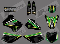 0476 NEW STYLE monster T EAM GRAPHICS & BACKGROUNDS DECALS FOR KAWASAKI KX85 KX100 KX 85 1998 1999 2000