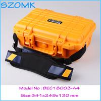 plastic tool box waterproof tool case IP68 security seal pistol case instrument case341*249*130mm
