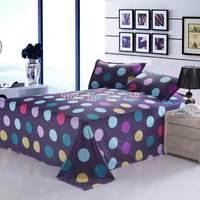 Purple sheets with colored dots Home textile Fashion cotton comforter set 4pcs bed sheet quiltcover beding 4pcs set
