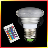 Brand New 4W E27 LED RGB Dimmable Acrylic Bulb 24 Color Change Lamp for home garden party decoration 5pcs/lot Freeshipping
