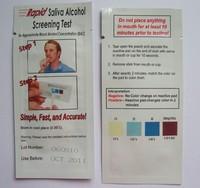 1000pcs/lot. Disposable Alcohol Tester Saliva Alcohol Tester, Mini Rapid Alcohol Testing Strip