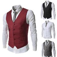New Autumn Winter Fashion Casual Vests Covered Button Zipper Decration men's clothing