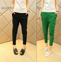 New 2014 fashion Women Casual Candy Color pants Korean all-match 100% cotton Harem Pants