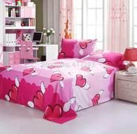 Angel Heart Reactive printing Home textile Fashion cotton comforter set 4pcs bed sheet quiltcover beding 4pcs set