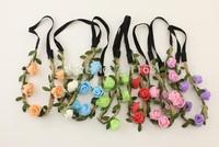 Womens Girl New Flower Fairy Bohemian EVA Braid Wedding Beach Tiara Crown hair headband Wholesale price High Quality 10pcs / lot