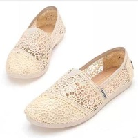 2014 Summer New Lace Hollow Cloth Shoes Women Fashion Breathable Flat Ballerina Shoes Casual Round Toe Loafers Sapatos Femininos