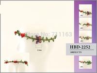 Womens Girl New Flower Fairy Bohemian Braid Wedding Beach butterfly Tiara Crown hair headband Wholesale price HBD-2252 10pcs/lot