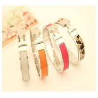 New 2014 7 Color Fashion Metal Temperament h Bracelet for Women Bracelet Bangles Bifurcated Bracelet/Pulsera Wholesale Jewelry