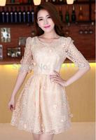 2014 new summer dress silk yarn women dress Eugen temperament-1141