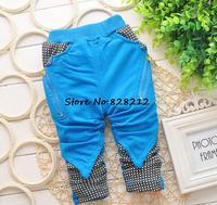 Plaid Baby Boy Pants Spring Autumn Baby Clothing Cotton Toddler Leggings Boys Trousers 7-24M 1pcs Free shipping TKU-1402