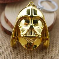 Free Shipping 2014 New Boyfriend Birthday Gifts The Star Wars Darth Vader Pendant Metal Zinc Alloy Key Chain Key Ring MV506