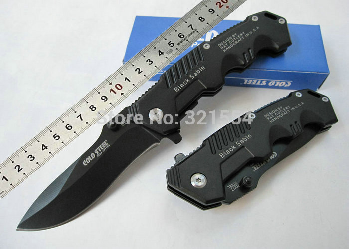 High Quality ! OEM Cold Steel HY217 Pocket Knife Tactical Folding Knives Aluminum Handle Camping tool Best Gift Free Shipping(China (Mainland))