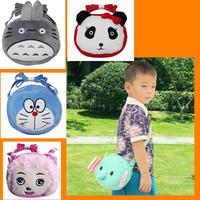 1pc 18cm New Cute Plush Totoro Doraemon Cat Panda Cartoon Messenger Bag For Girl Children Birthday Gift bolsa saco do mensageiro