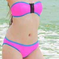 2014 Bikinis Set Neoprene Bikinis for Women Sexy Bikini with Zipper Fashion Swimsuit Beach Bikinis