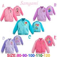 1PCS baby Girls Minnie jackets coats Frozen Girl Elsa & Anna sport Baseball Outerwear & Coats,autumn children's Cartoon coat
