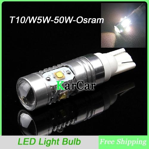 2PCS/Lot T10 25W Osram High Bright LED Clearance Lights, W5W Car Rear Light Bulbs Head Lights Free Shipping(China (Mainland))