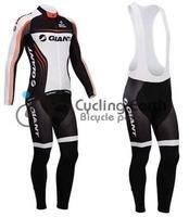 Free shipping! Giant 2014 #1 team long sleeve autumn bib cycling wear clothes bicycle bike riding cycling jersey bib pants set