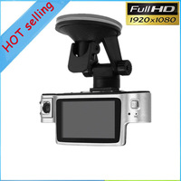 Full hd dual lens X9000 Car DVR Car Camera Dual Lens Video Recorder Camcorder External IR Rear Camera HDMI H.264 AVI Novatek CPU