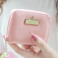 2014 new arrival women purse fashion  diamond  crown  pearl  pendant  mini lady's coin wallet purses free shipping