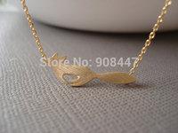 10 PCS-N57 fox necklace,dainty minimalist handmade necklace, simple, birthday, wedding, best friend gift -Free shipping