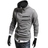 HOT! 2014 New Men's Hoodies casual Jackets double zipper design Fashion coats,5 colors