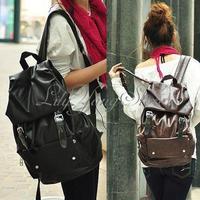 Fashion Women Men Extra Large PU Leather Backpack Rucksack Satchel Travel Bag