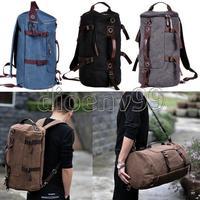 Travel Men Vintage Canvas Backpack Rucksack School Satchel Hiking Laptop Handbag